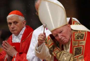 papa-ioan-paul-al-doilea-actualul-papa-benedict