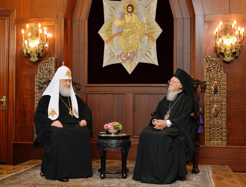 Patriarch Kirill of Moscow and All-Russia and Patriarch Bartholomew I of Constantinople meet in Istanbul, Turkey